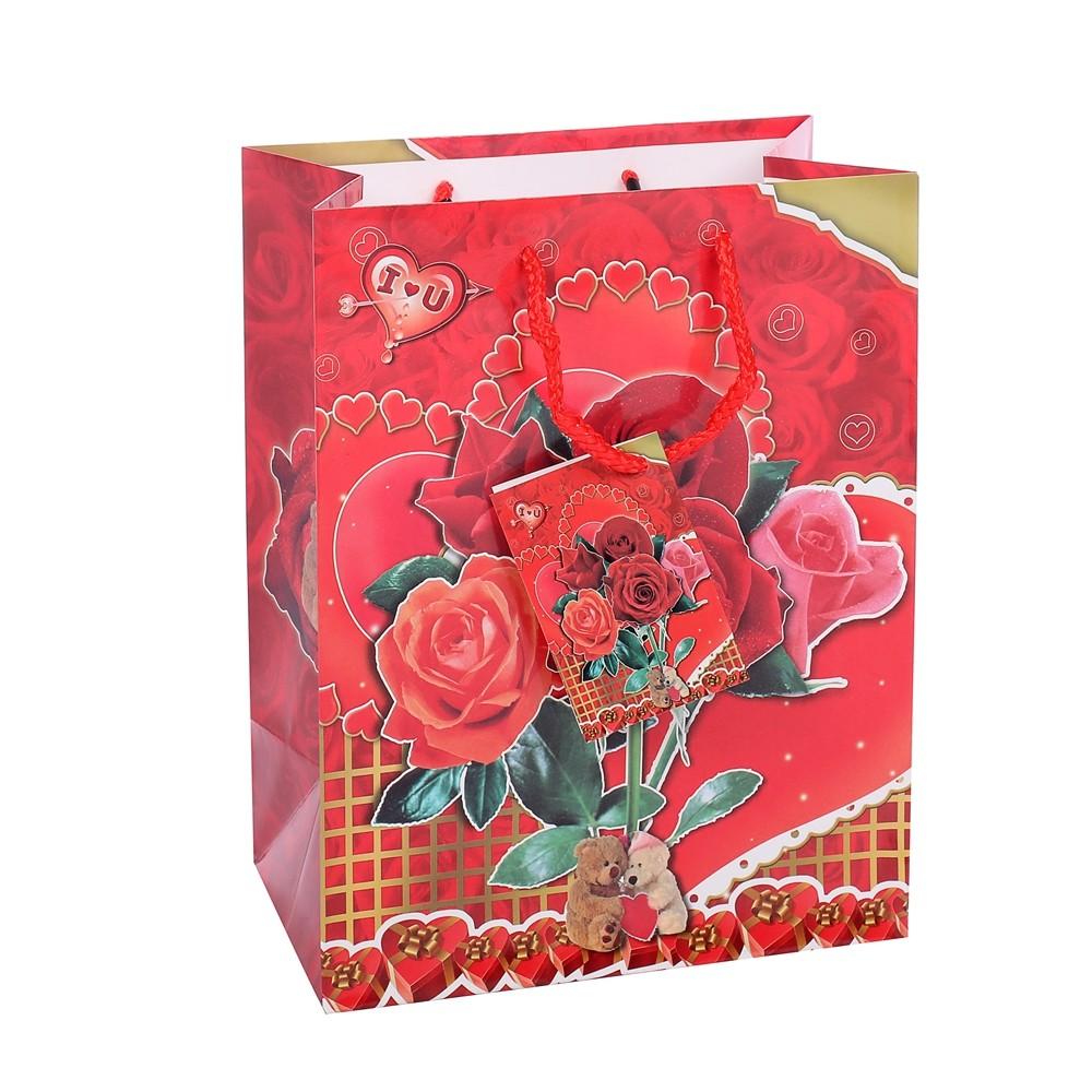 Custom Logo Carrying Fancy Red Easy Carry Flower Wedding Packaging For Shopping