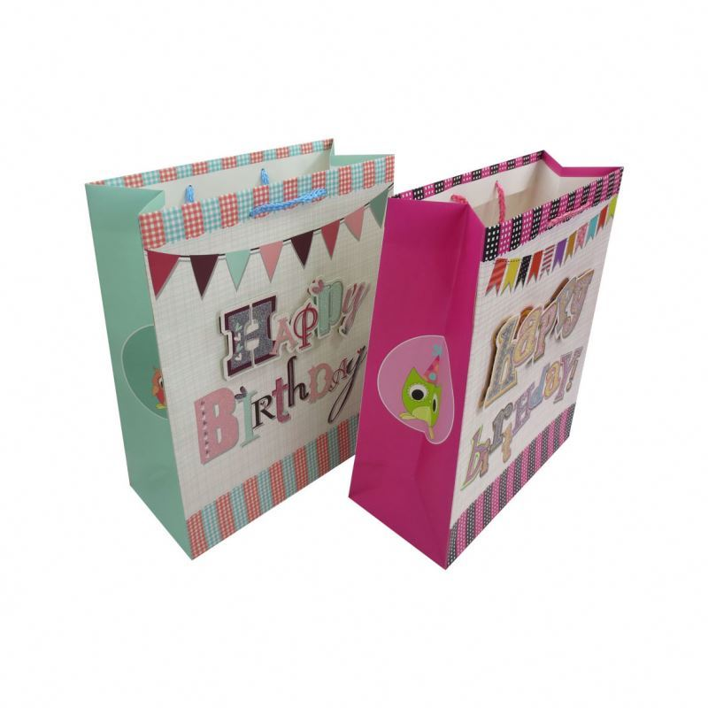 Handmade 3d paster dusting shopping paper bags,packaging hand bag gift bag