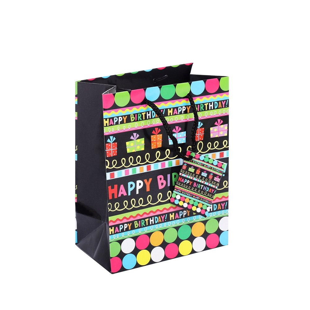 Customized Lovely Handmade Large Capacity DIY Birthday Gift Packing Bags With Small Card