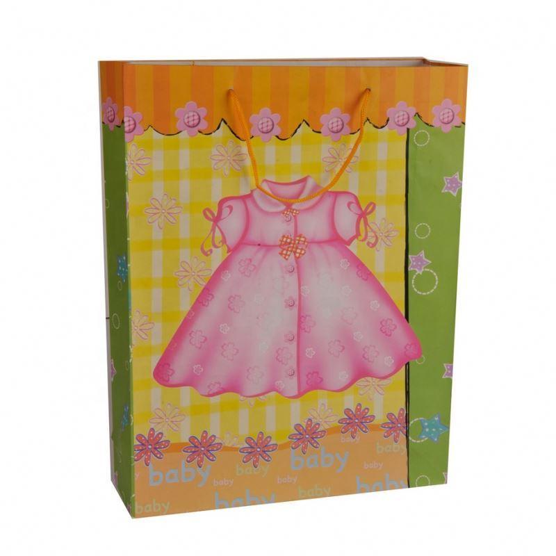 2019 Promotional Multi-fonction Reusable Folding Baby Shower Gift Paper Bag