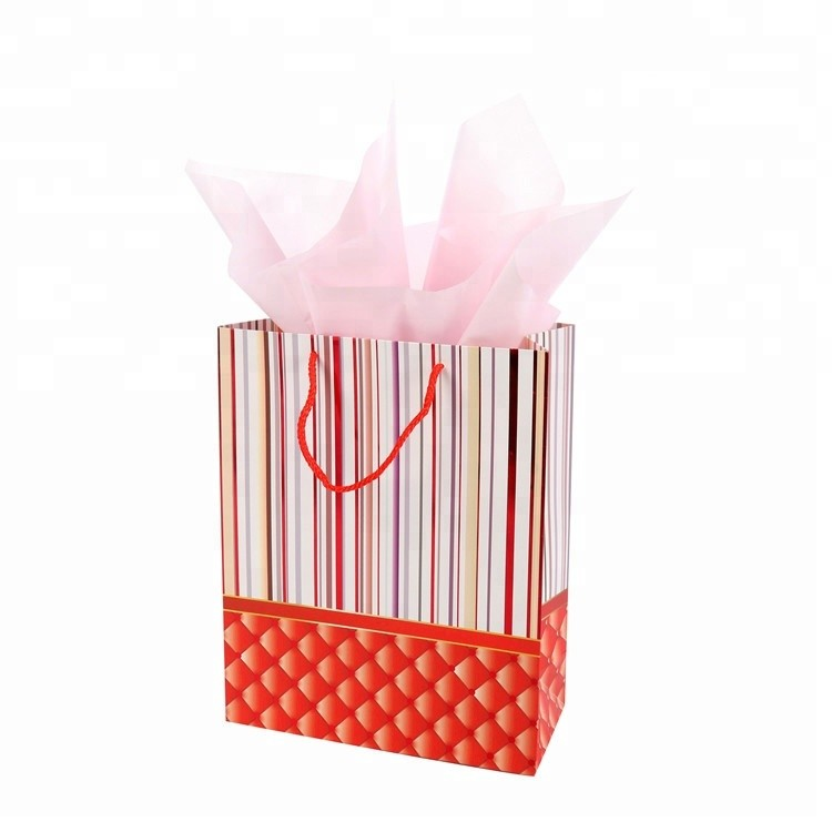 Wholesale Recyclable Large Shopping Bags Colorful Printed Paper Gift Bag With Hot Stamping