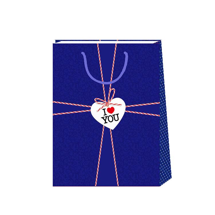 2019 Simple DesignReusable Biodegradable Multi-function Blue Kraft Paper Bag
