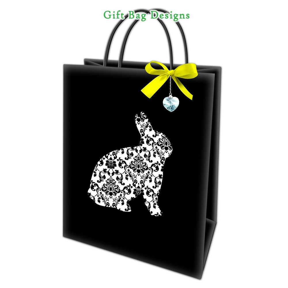 Top Quality Yellow Bowknot Eco-Friendly Love Pendant Paper Shopping Bag With Rope Handle