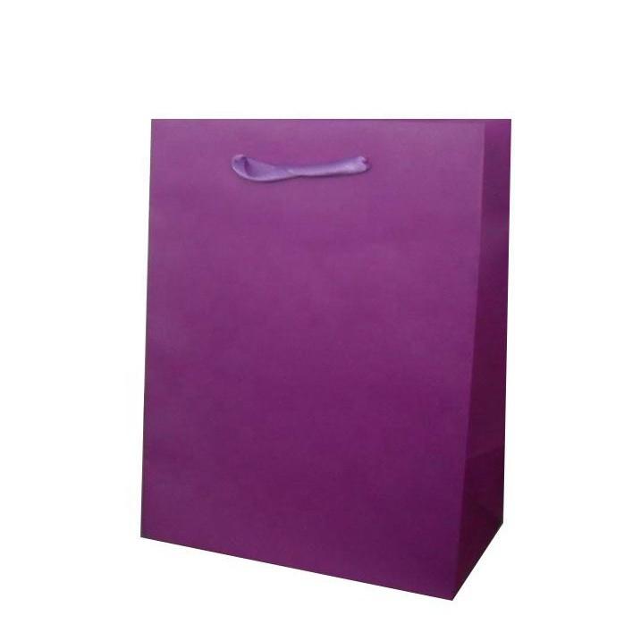 Wholesales Custom Printed Purple Shopping Gift Paper Bags With Logos Mini Door Gift Bags