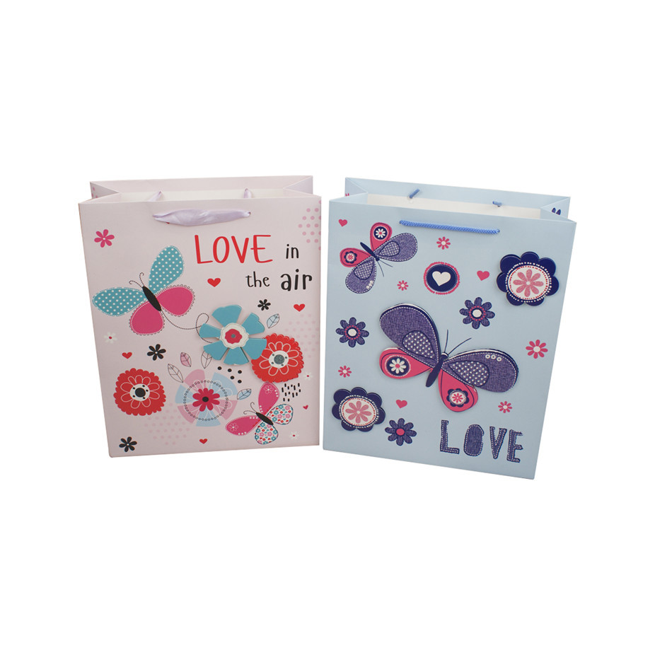 New design special cartoon animals pattern packaging paper bag for kids