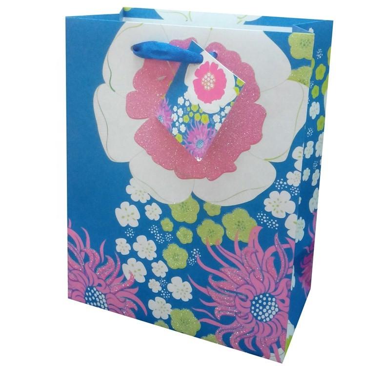 New Design Custom Logo Printing Reusable Christmas Wine Paper Bags