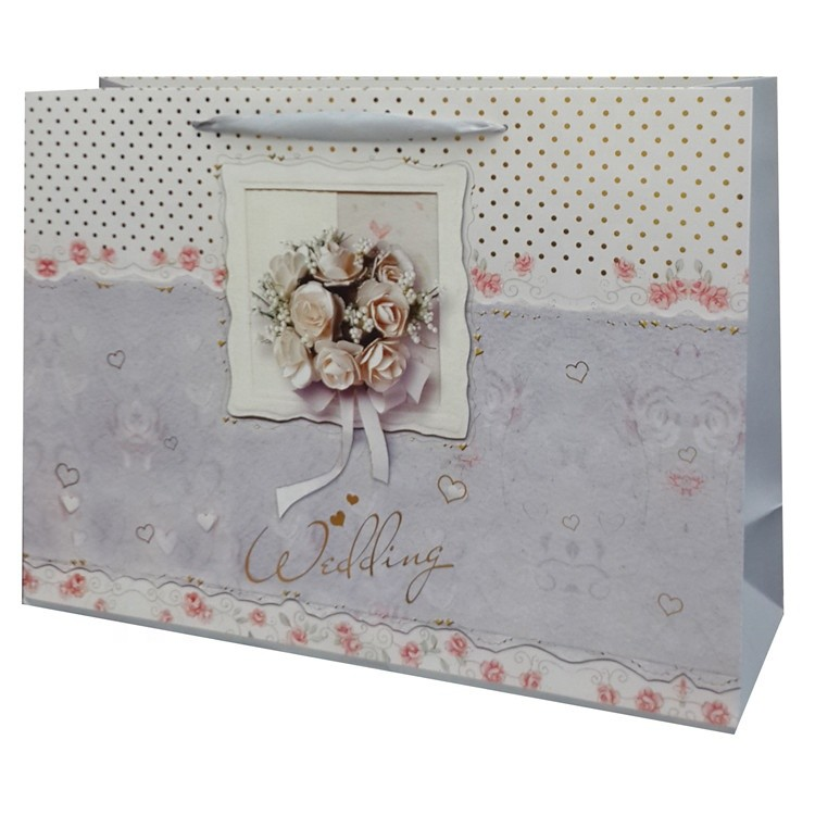 High Quality New Design Wrapping Paper Tote Wedding Gift Bags