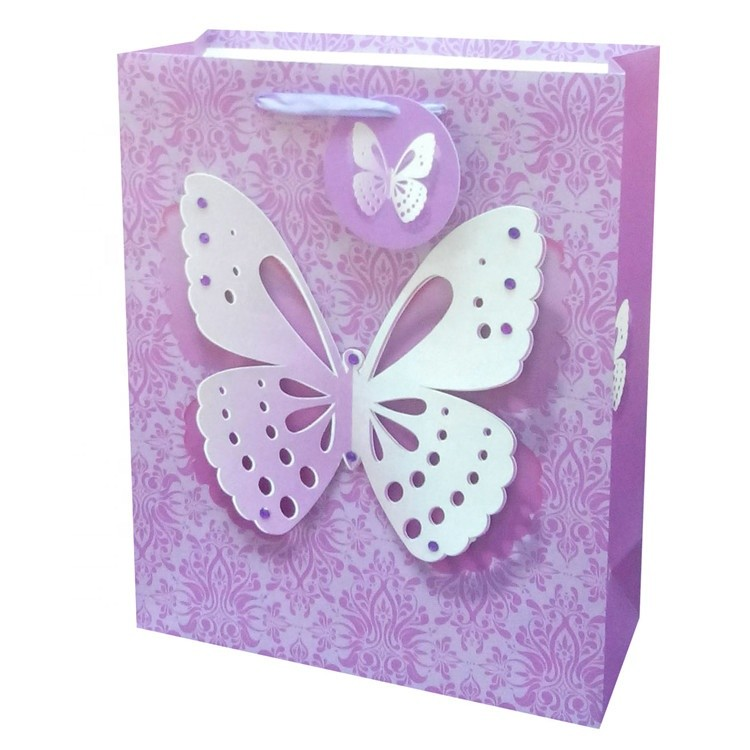 Cheap Creative Reusable Easy Carry Large Capacity Wedding Gift Shopping Paper Bags