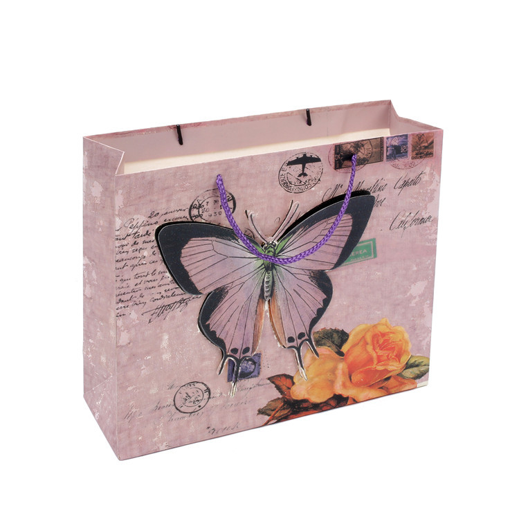 Sell Well Eco-friendly Durable CMYK Paper Gift Bag 3D With PP Rope Handle