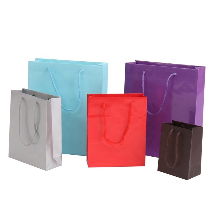 Wholesale Custom Pantone Color Gift Paper Bags With Handle