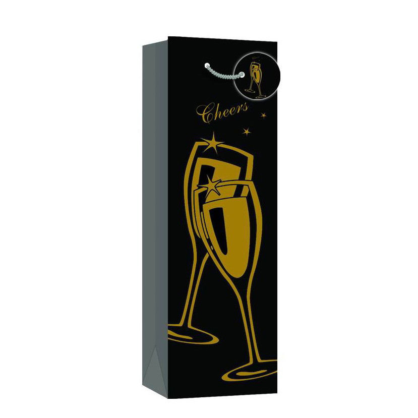 Eco-friendly Simple Design Durable Custom Wine Packing Paper Gift Bags
