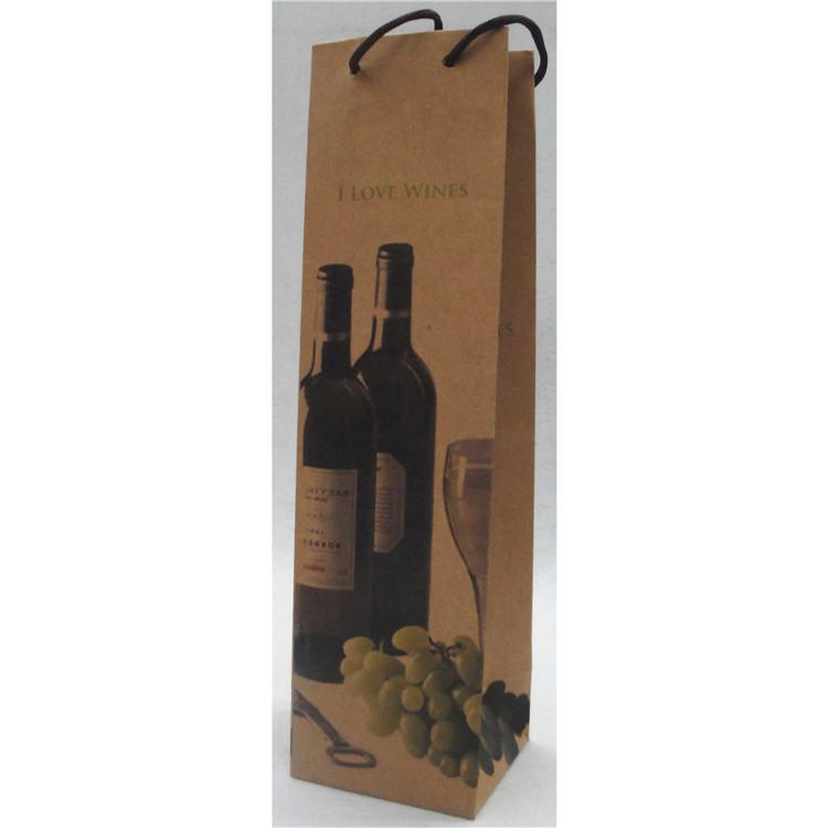 Luxury Eco-friendly Custom Desigsn Handmade Paper Wine Bag With Your Own Logo