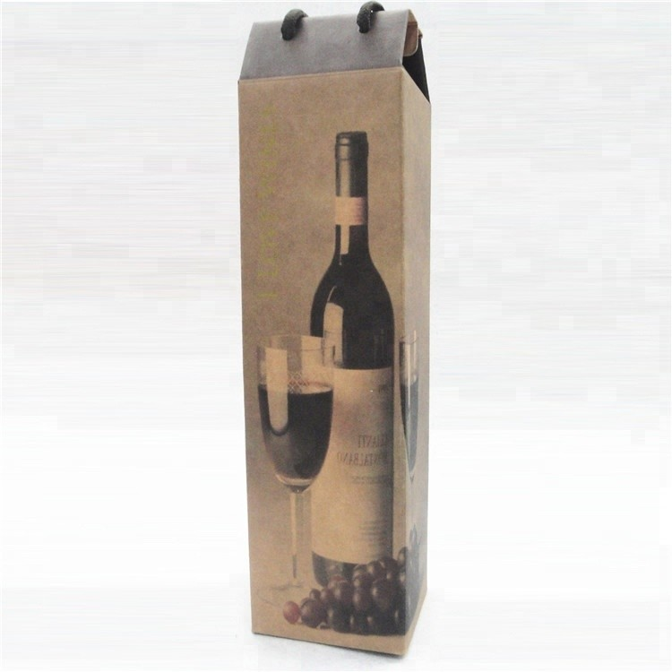 Cheap Price Color Luxury Bottle Fashion Gift Custom Print Shopping Wine Paper Bag