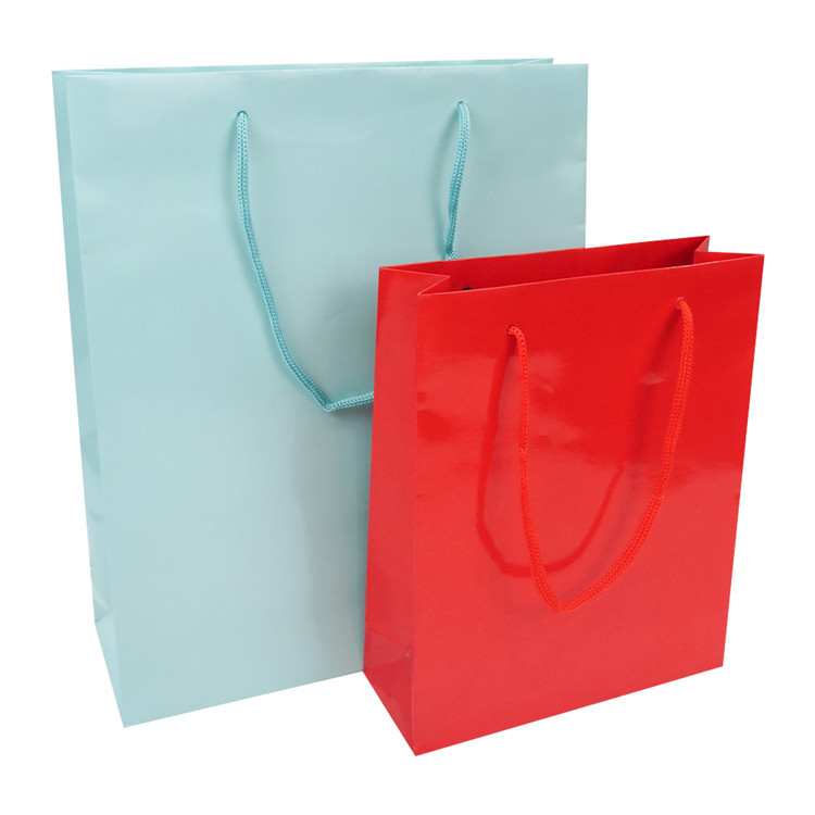 OEM Custom Luxury Solid Color Gift Craft Shopping Kraft Paper Bag With Handle