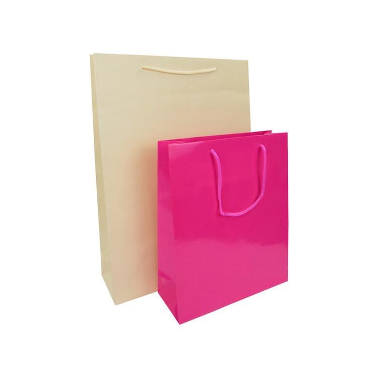 Wholesale Custom Print Shopping Packaging Kraft Paper Bag Kraft Paper Tote Bag With Handle