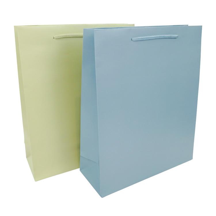 Wholesale Promotional Dumb Film Bright Film Custom Print Kraft Paper Bag With Handle