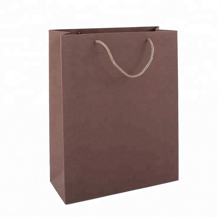 Wholesale Custom Size Brown Kraft Paper Shopping Coated Paper Gift Bag