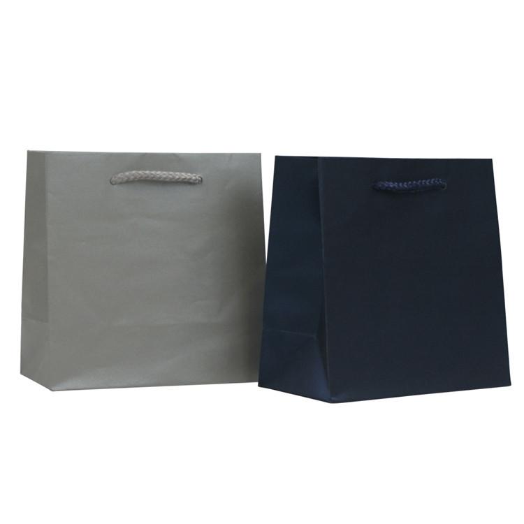 Wholesale price low cost custom print kraft paper bag with rope handle