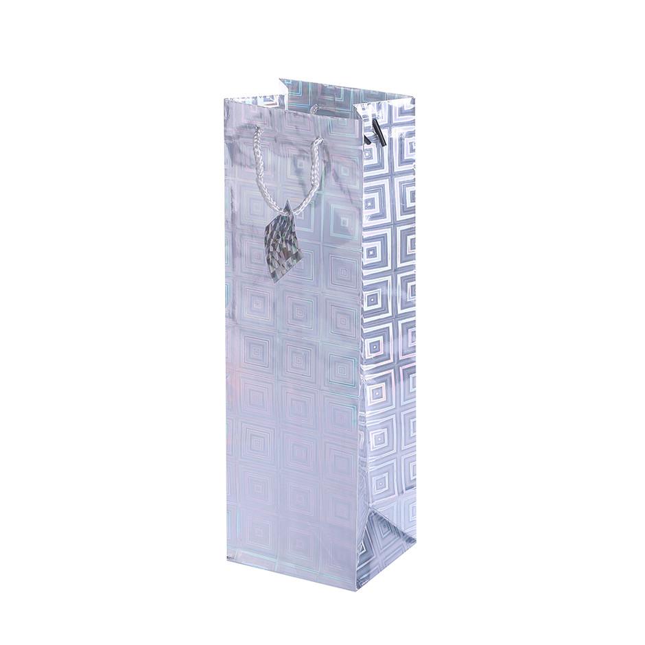 Custom glitter wine bottle kraft paper wine package bag