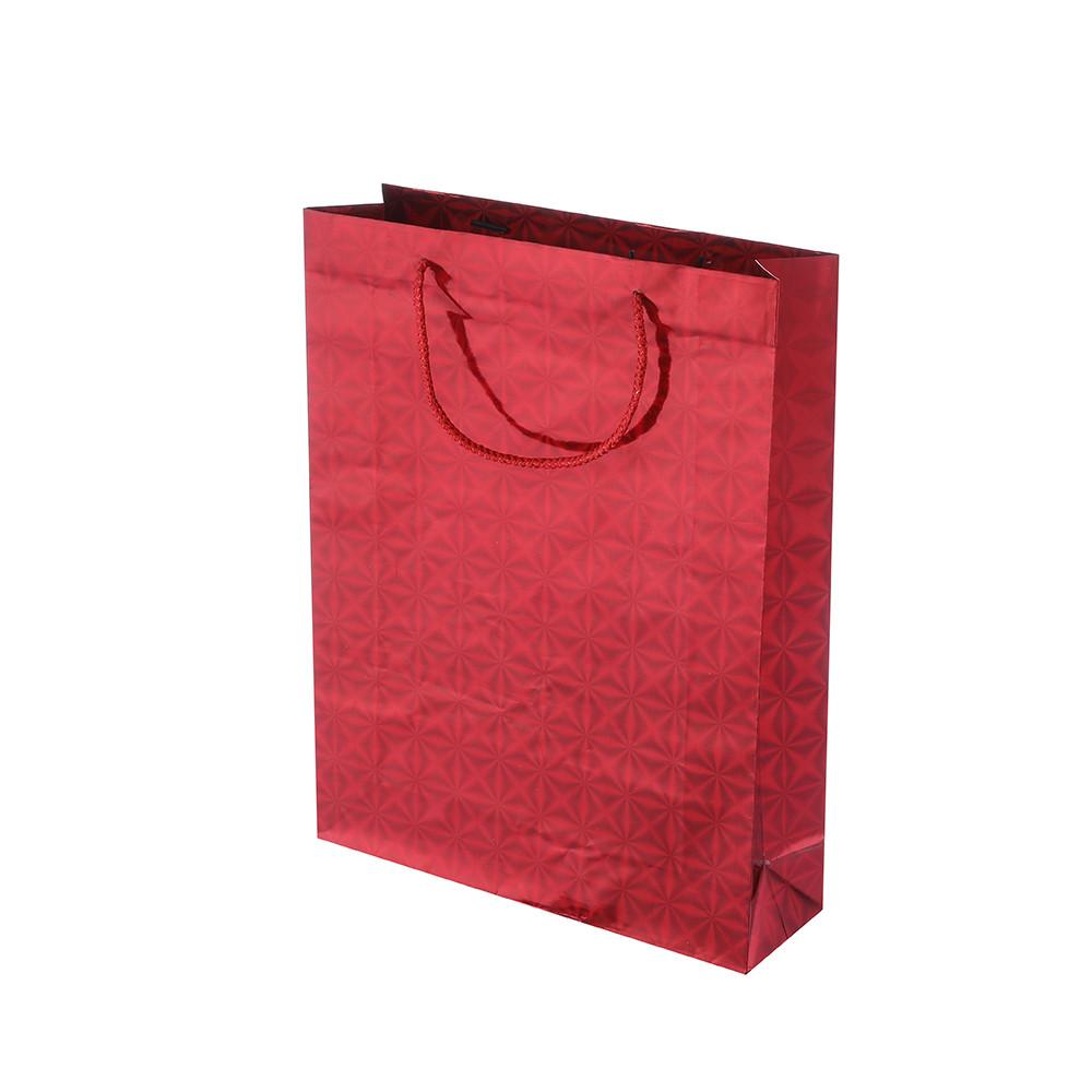 Luxury Printing Custom Design Festive Durable Red Wedding Wine Bottle Laser Film Gift Bags