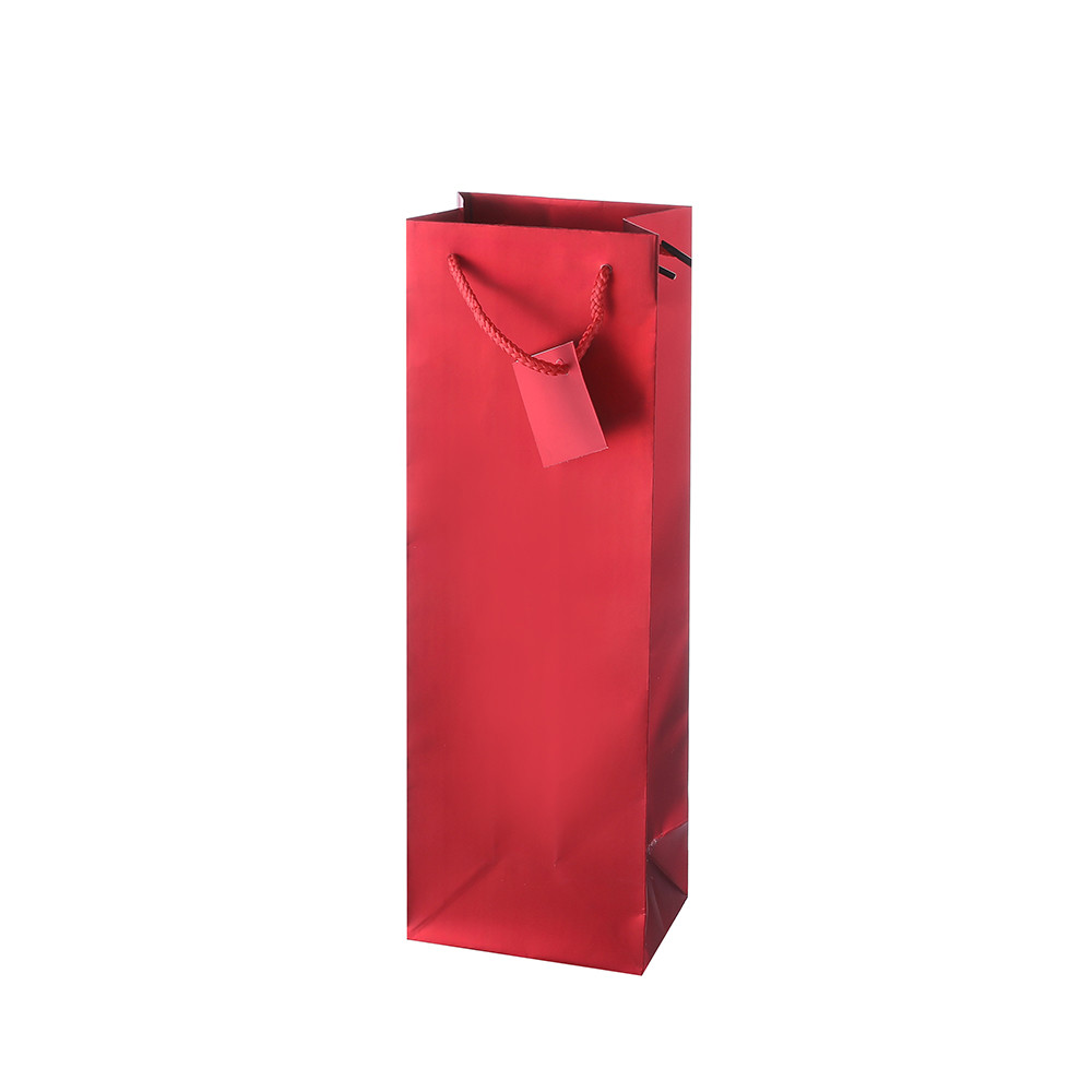 Best Selling Red Easy Carry Decorative Foldable Paper Shopping Bag With Handles
