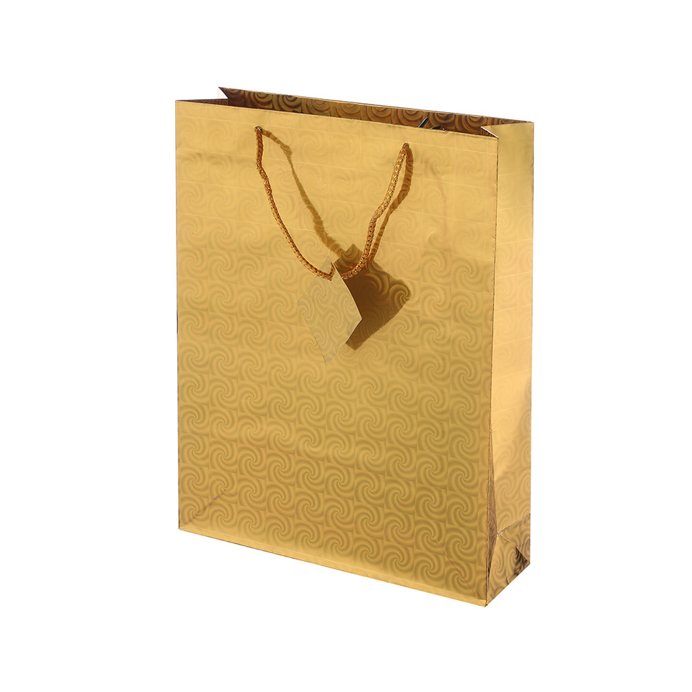2019 Simple Design Eco-friendly Durable Folding Paper Shopping Bag With Rope Handle