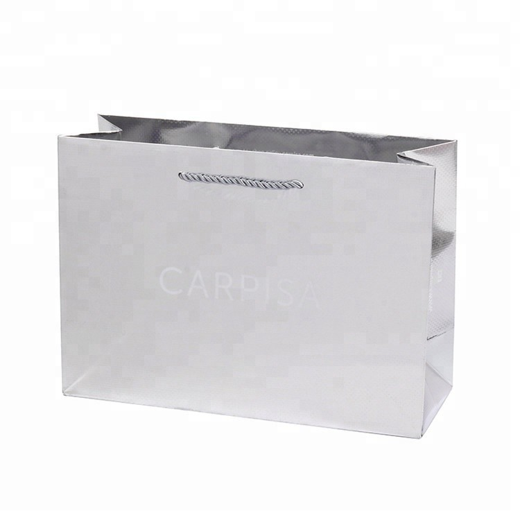 Promotional Fashionable Folding Recyclable Luxury Shopping Gifts Double Handle Paper Bag