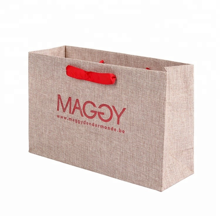 High Quality Handmade Reusable Standard Size Advertising Paper Gift Bag For Packing Clothes
