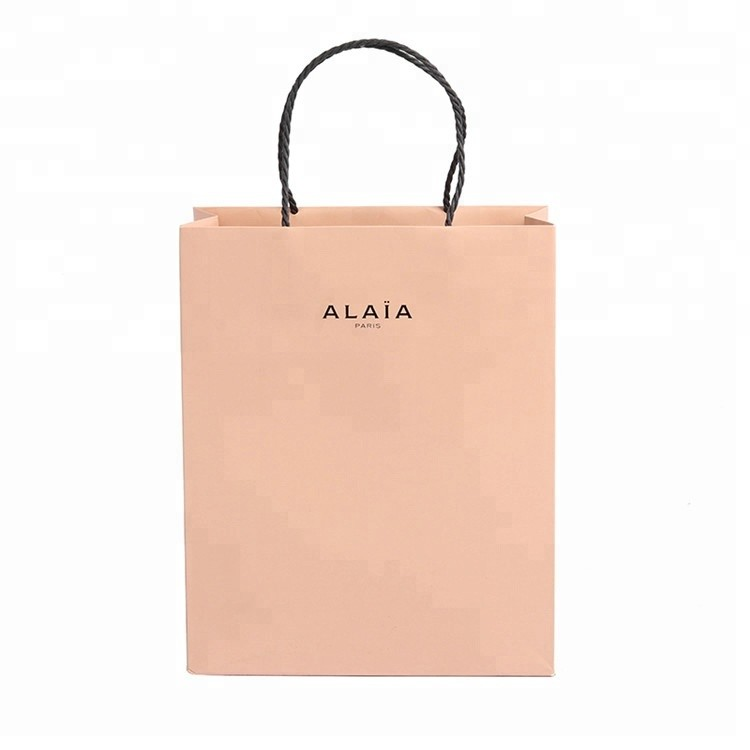 Customized Advertising Luxury Gift Recyclable Paper Shopping Bag