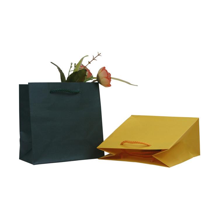 2019 Factory Price Solid Color Kraft Paper Packaging Bags,Square Kraft Paper Bag