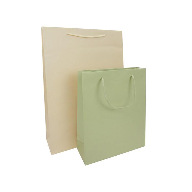 Wholesale Dumb Bright Film Recycled Kraft Paper Bag Solid Color Craft Paper Bag