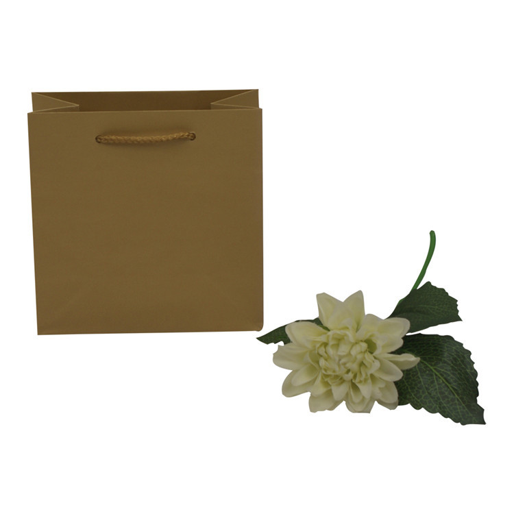 Luxury Handmade Solid Color Cheap Garment Shopping Recycle Kraft Paper Bag with Handle