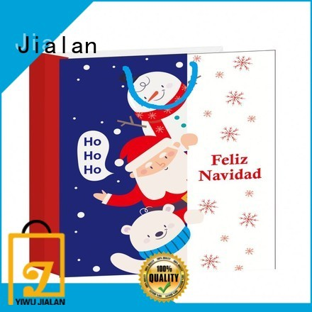 Jialan paper bag supplier manufacturer for holiday gifts packing