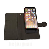New Card Wallet universal Leather Case Sliding Up and Down Mobile Phone Folio Case manufacturers