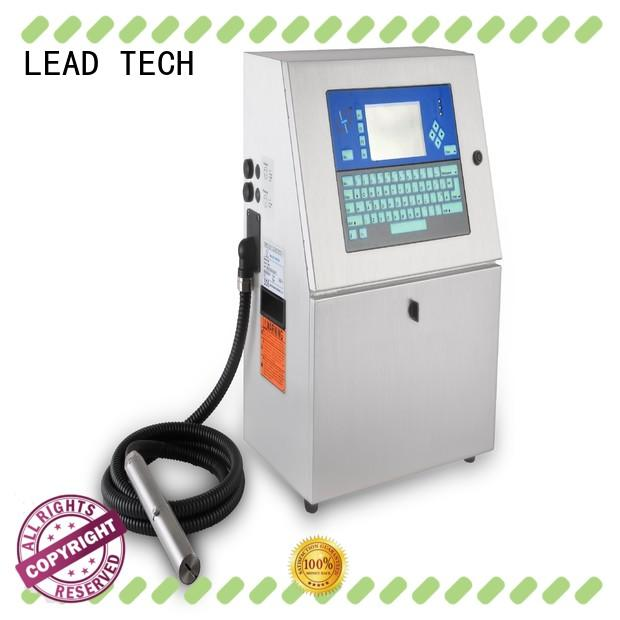 LEAD TECH inkjet label printer easy-operated for beverage industry printing