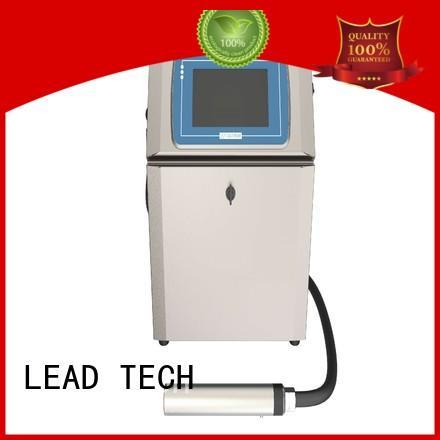 LEAD TECH Custom inkjet printer test OEM for beverage industry printing