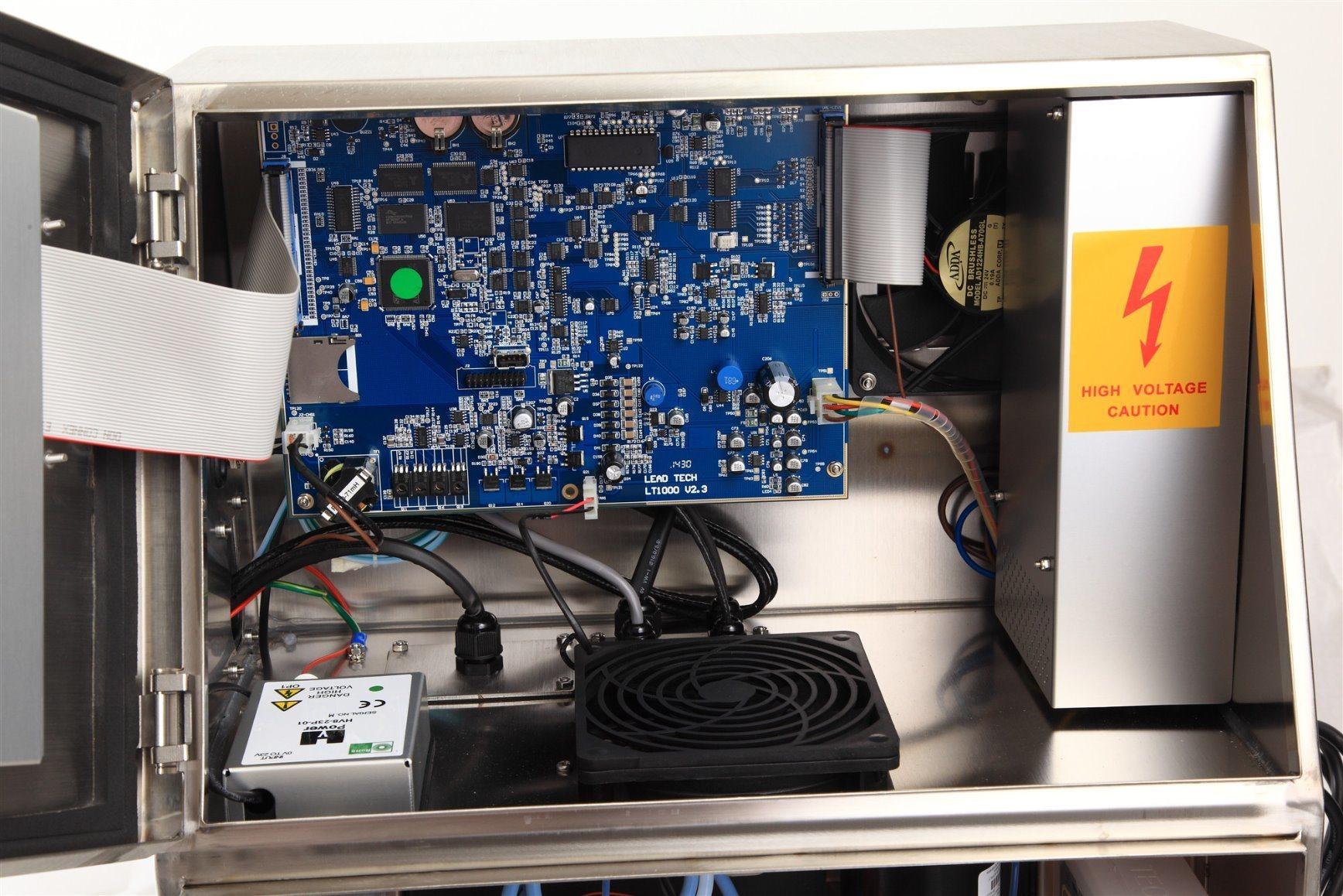 Lead Tech Lt1000s+ Black to Red Coding Cij Inkjet Printer
