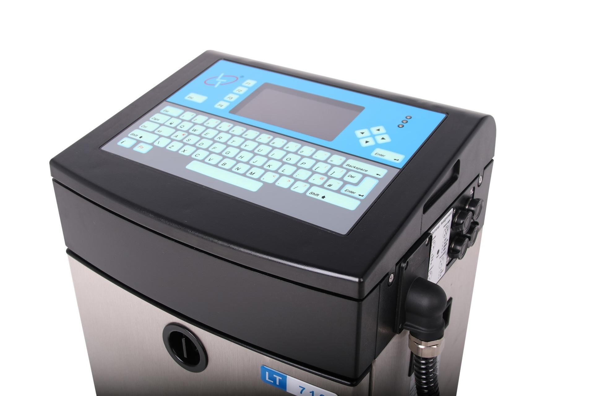 Lead Tech Lt710 Black to Blue Coding Continuous Cij Inkjet Printer