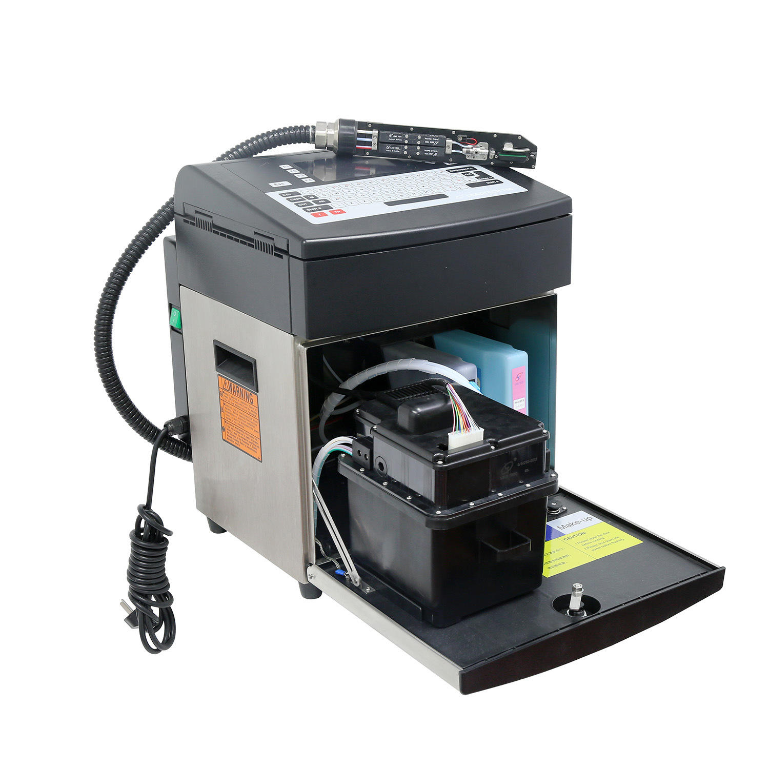 Lead Tech Lt760 Black to Red Coding Continuous Cij Inkjet Printer