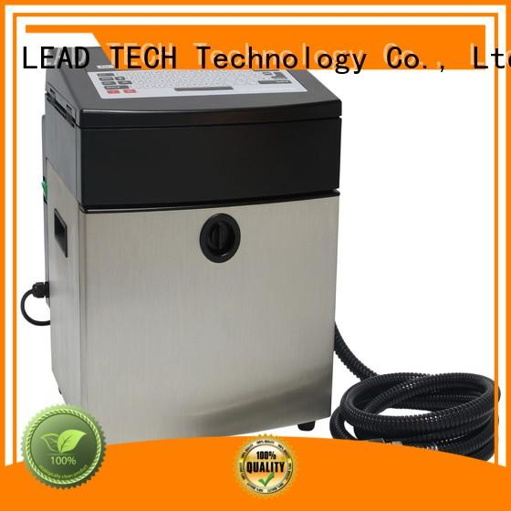 LEAD TECH Custom printer continuous ink for sale easy-operated for tobacco industry printing