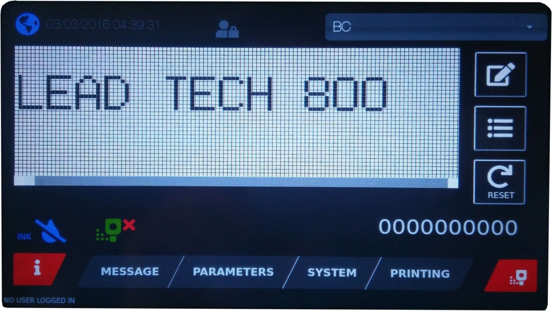 Lead Tech PVC Pipe Cij Inkjet Printer Lt800