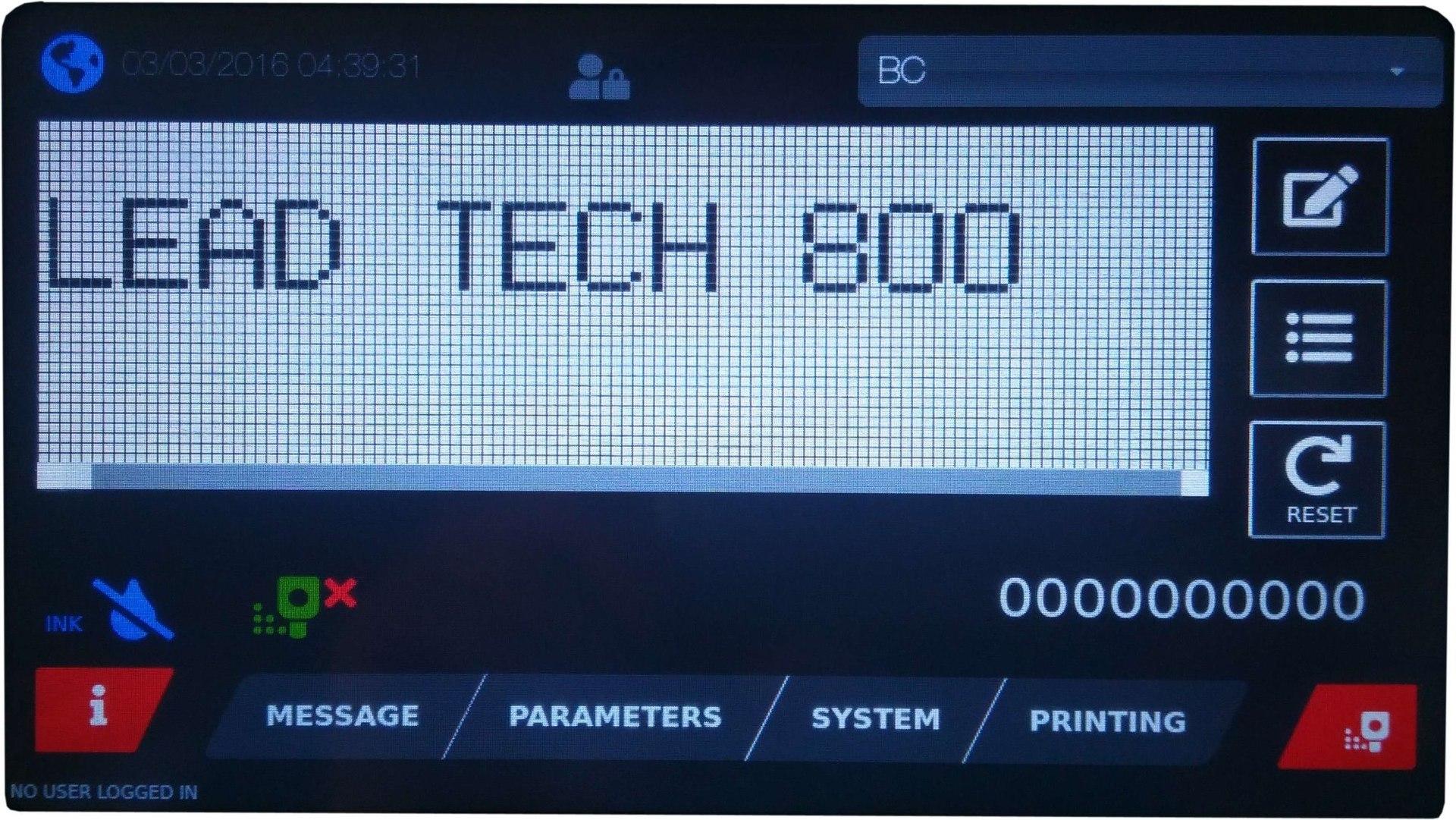 Lead Tech Egg Coding Continuous Inkjet Printer Lt800