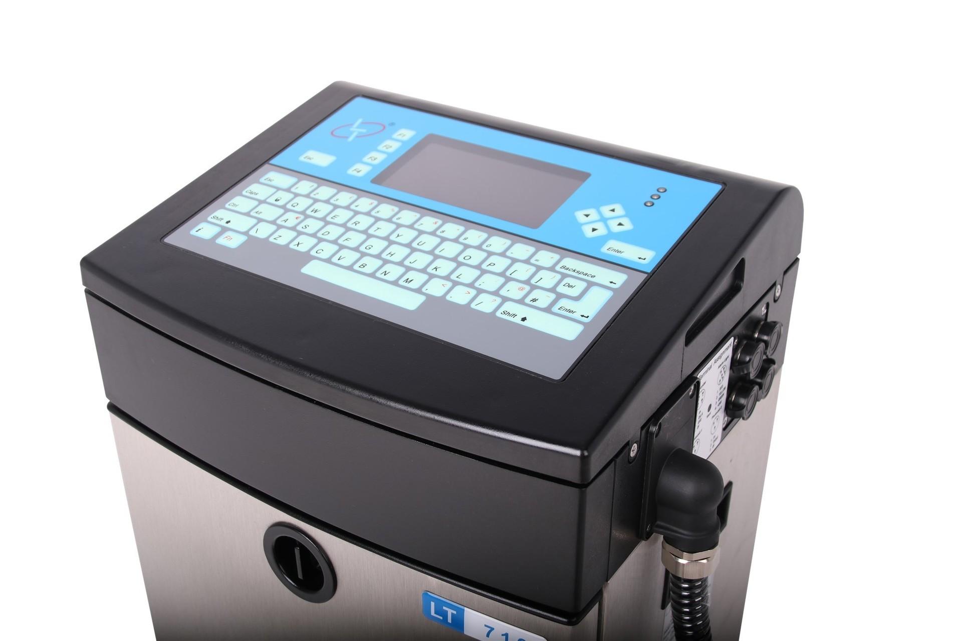 Lead Tech Lt710 Cij Inkjet Printer for Black to Blue Coding