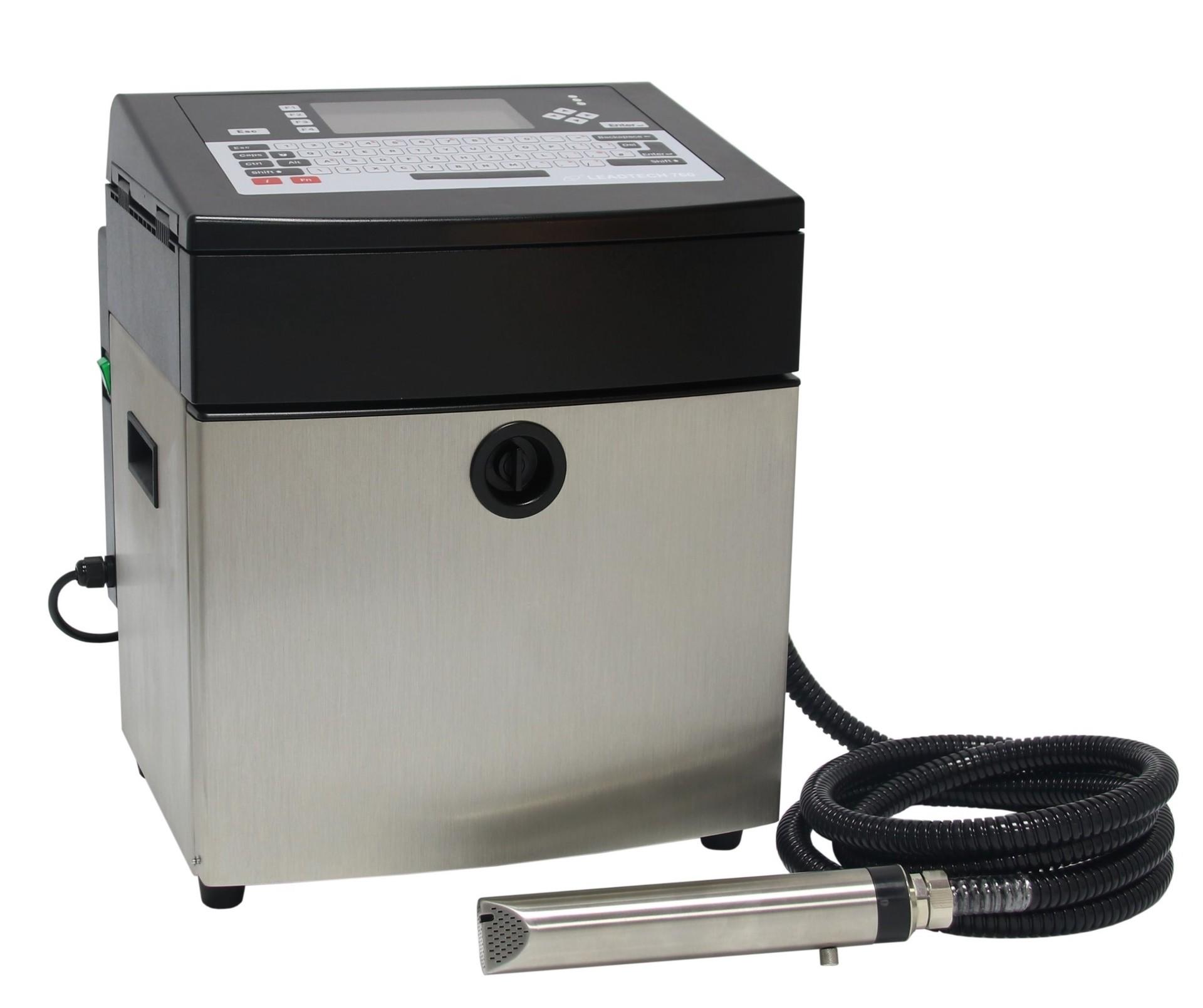 Lead Tech Lt760 Cij Inkjet Printer for Black to Blue Coding