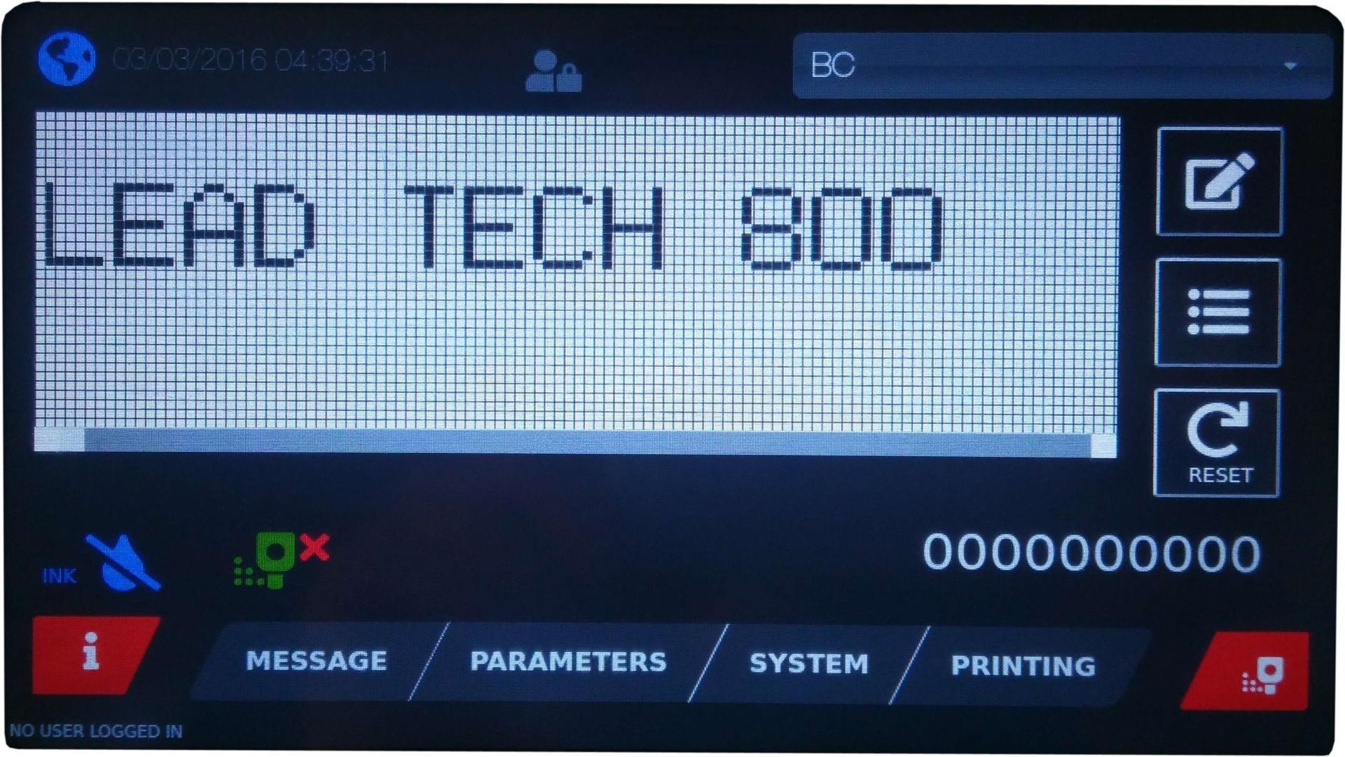 Lead Tech Lt800 Egg Exp Date Coding Cij Inkjet Printer