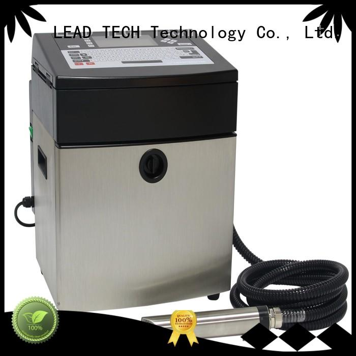 LEAD TECH industrial continuous inkjet printers Supply for beverage industry printing