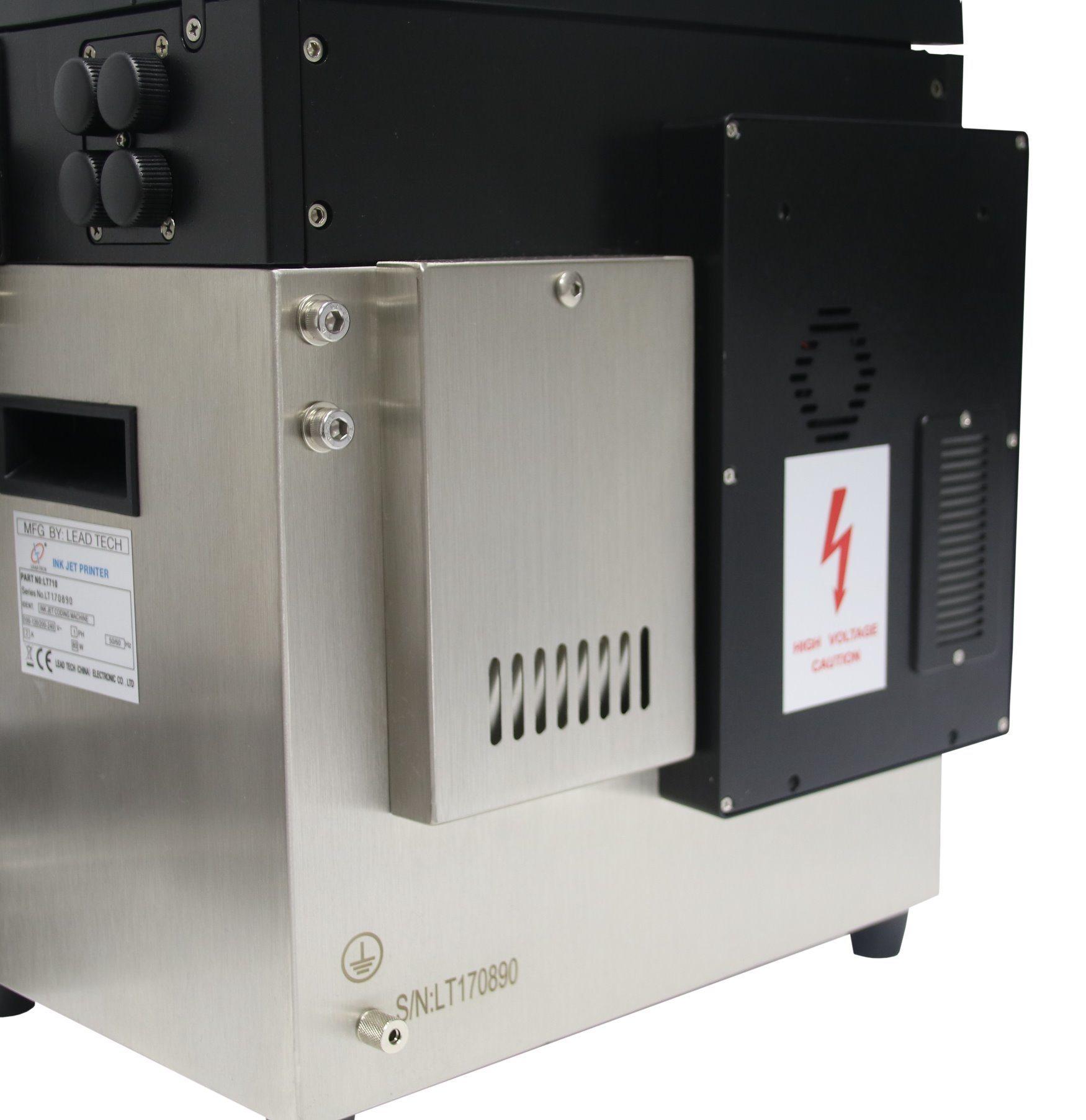 Lead Tech Black to Blue Coding Continuous Cij Inkjet Printer Lt760
