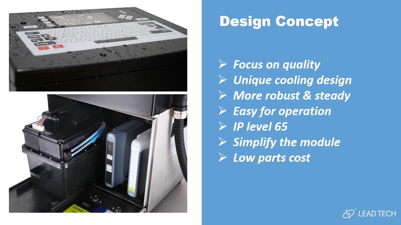 Lead Tech Black to Blue Coding Continuous Cij Inkjet Printer Lt760