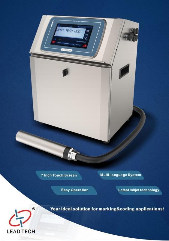 Lead Tech Lt800 Glass Bottle Cij Inkjet Printer