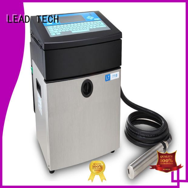 LEAD TECH Custom laser printer vs inkjet uk company for beverage industry printing